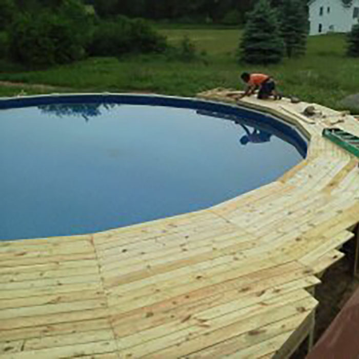 Crescent Pool Deck
